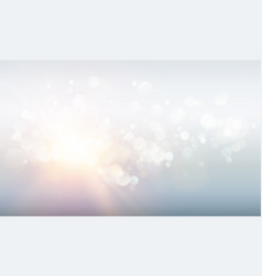 abstract rays with bokeh over blue sky glitter vector image