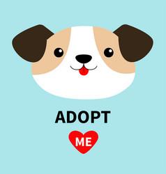 Adopt me dog face head round icon cute cartoon vector