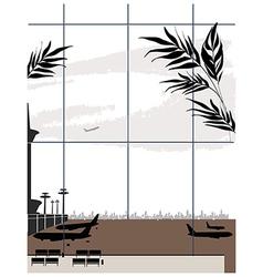 Airport Window View vector image vector image