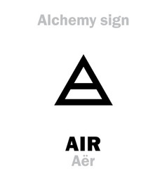 alchemy air aer vector image