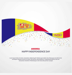 Andorra happy independence day background vector