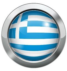 argentina flag metal button vector image