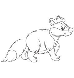 Badger vector image