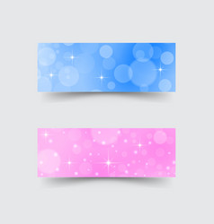 Banners with abstract circles and stars vector
