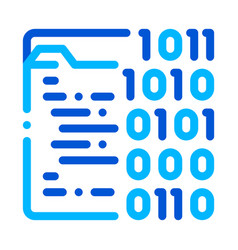 binary file coding system thin line icon vector image
