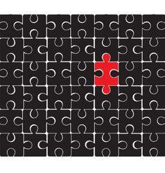 black puzzle vector image