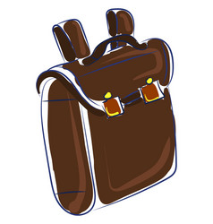 brown bag drawing on white background vector image