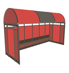 bus stop background icon design flat street city vector image