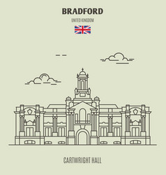 cartwright hall in bradford vector image