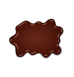 chocolate sweet splash chocolate liquid blot vector image