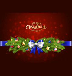 christmas partiotic border of vector image