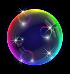 Colorful soap bubble vector
