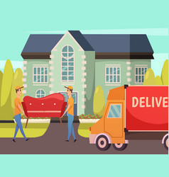 Courier delivery service orthogonal composition vector