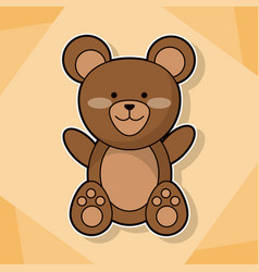cute teddy baby animal cartoon image vector image