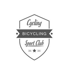 Cycling sport club logotype vector