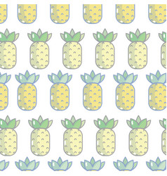 Delicious pineapple fruit background design vector