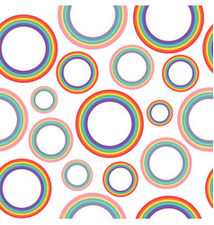 different pastel rainbow circles - oldschool vector image