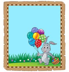 Easter rabbit theme parchment 2 vector