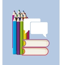 Education books pencils vector