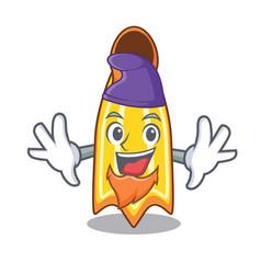 Elf swim fin character cartoon vector