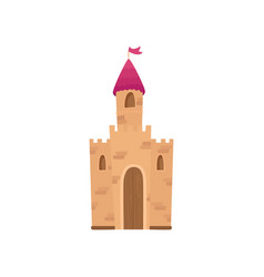 Fairy medieval castle cartoon vector