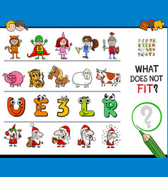 find wrong picture in a row educational game vector image