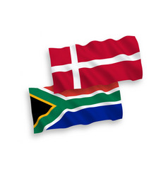 flags denmark and republic south africa on a vector image