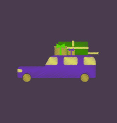 Flat shading style icon car gifts vector