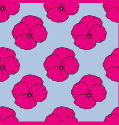 floral seamless pattern hand drawn vector image