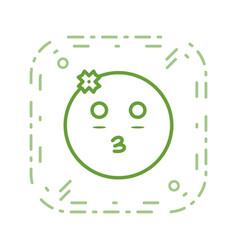 Girl emoji icon vector