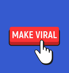 Hand mouse cursor clicks the make viral button vector