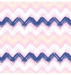 Hand painted chevron pattern vector