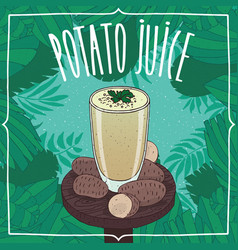 healthy fresh potato juice with root vegetables vector image