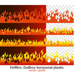 hellfire flame elements for the endless border vector image