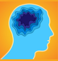 human head and paper brain vector image