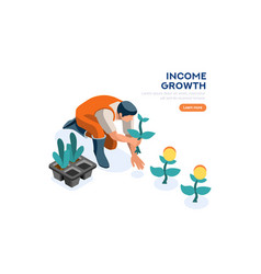 Investment growth symbol vector