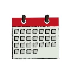 Isolated calendar date vector