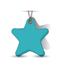 isolated hanging and star tag design vector image
