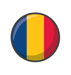 Isolated romania flag icon block design vector