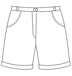 Isolated trouser on white background vector