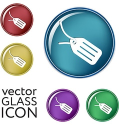 Label icon button vector image