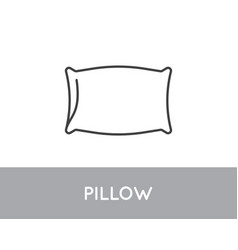Line style icon with pillow good sleep symbol vector