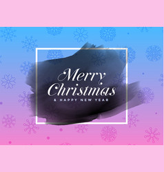 merry christmas watercolor frame background vector image