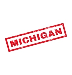 Michigan Rubber Stamp vector