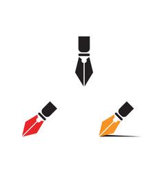 pen write sign logo template app icon vector image