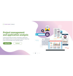 project management and application analysis vector image