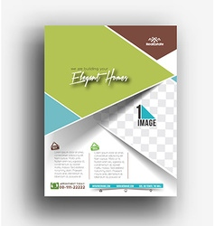 Real Estate Agent Flyer Poster Template vector