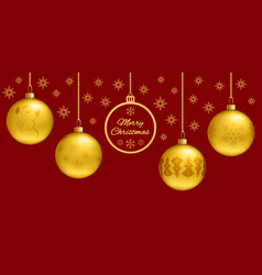 rectangle christmas card or horizontal banner 3d vector image