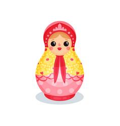 russian nesting doll wooden matryoshka vector image