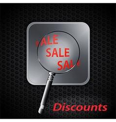 sale discounts on metallic background vector image